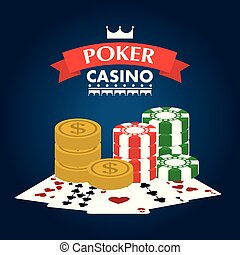 poker casino club entertainment playing money chip and cards