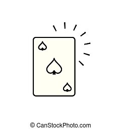 poker casino game card icon