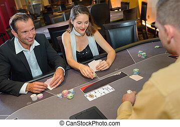poker, casino, jouer