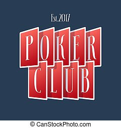 Poker, casino vector logo, emblem