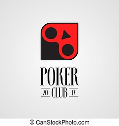 Poker, casino vector logo, sign