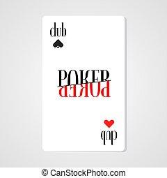 Poker, casino vector logo, symbol
