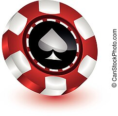 Poker Chip - an illustration of a poker chip from a casino