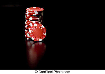 Poker chip - Casino chips and card