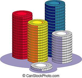 Poker Chip Or Gambling Clip Art