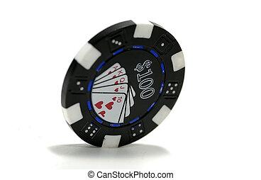 Poker Chip - 100 Dollar Poker Chip