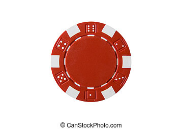 Poker Chip - a red poker chip