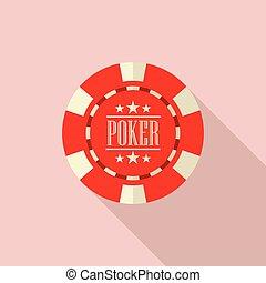 Poker chip vector illustration