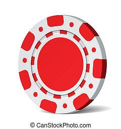 Vector illustration of a blank poker chip