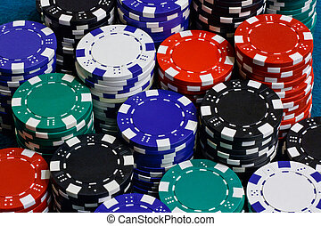 poker chips background