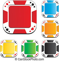 poker chips buttons - suitable for button apps