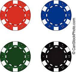 Poker Chips - Set of poker chips.