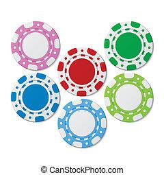 Poker chips - Vector illustration of poker chips