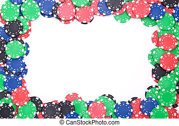 Poker chips frame