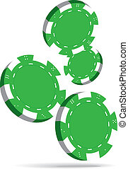 Poker chips - Illustration of Falling Green Poker Chips...
