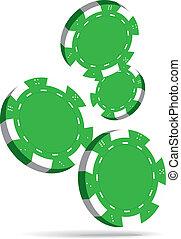 Poker chips - Illustration of Falling Green Poker Chips...