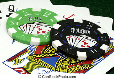 Poker Chips - Playing Cards and Poker Chips