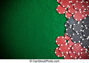 Poker chips - Casino gambling chips with copy space