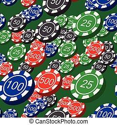 Poker Chips Seamless Pattern