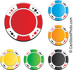 poker chips vector - suitable for casino chip