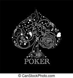 Poker - Vintage poker pattern