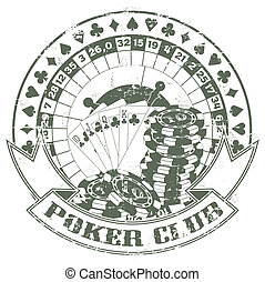 Poker club a stamp - The vector image of Poker club a stamp