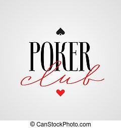 Poker club, casino vector logo, emblem