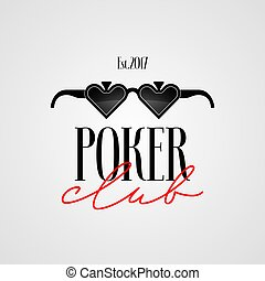 Poker club, casino vector logo, symbol