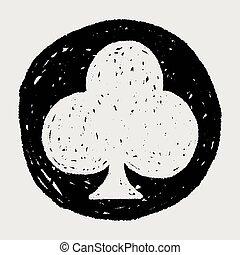 poker club doodle