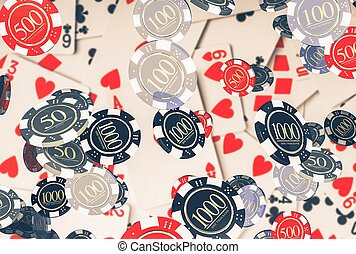 Poker Concept with Chips