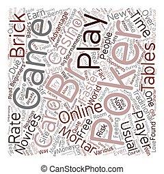 poker, concetto, testo, wordcloud, gioco, fondo, linea, scheda