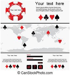 poker design - website template