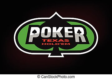 Poker emblem on the background of a green table.