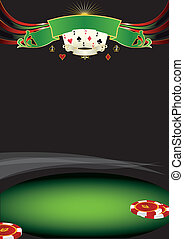 poker, fondo, bello