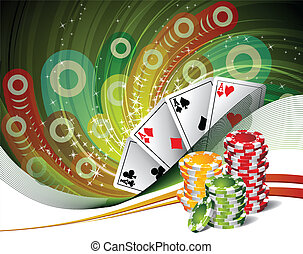 Poker Four Aces Chips for poker Background play poker