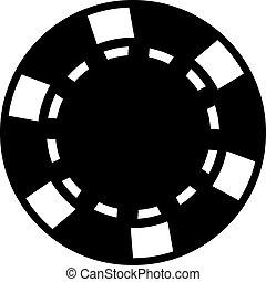 Poker gambling chip