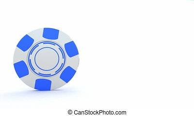 Poker gambling chips falling down - Poker gambling chips...