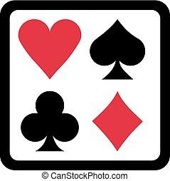 Poker gambling icons