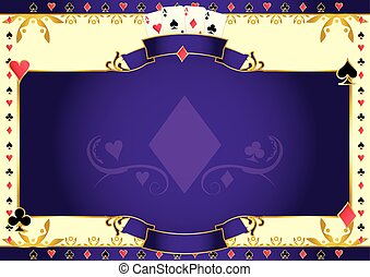 Poker game ace of diamonds horizontal background