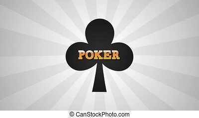 Poker game emblem HD animation - Poker game clover emblem...