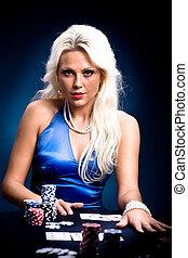 poker girl