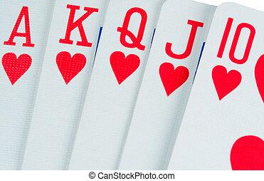 Poker Hand - A poker player\\\'s best hand, the royal flush