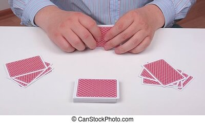 Poker hand of playing cards