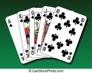 Poker hand - Royal flush club