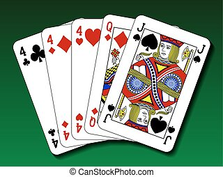 Poker hand - Three of a kind, trips