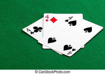 Poker hand with 3 of a kind