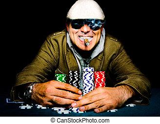 Poker happy face