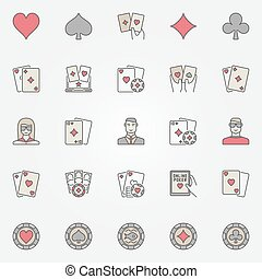 poker, holdem, texas, icônes