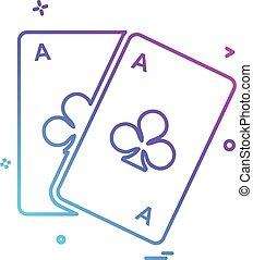 Poker icon design vector