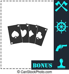 Poker icon flat